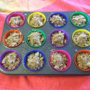 after streusel  french toast cupcake liners