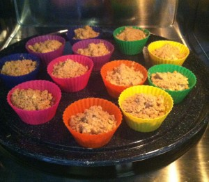 cooking french toast cupcake liners